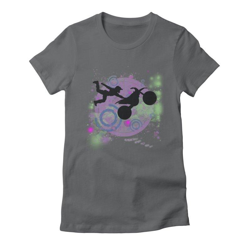 AIR TIME JERKSTUNTS Women's Fitted T-Shirt by ExploreDaily's Artist Shop