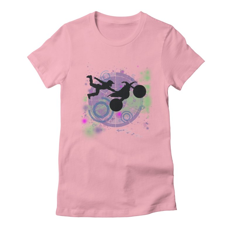 AIR TIME JERKSTUNTS Women's Fitted T-Shirt by ExploreDaily's Artist Shop