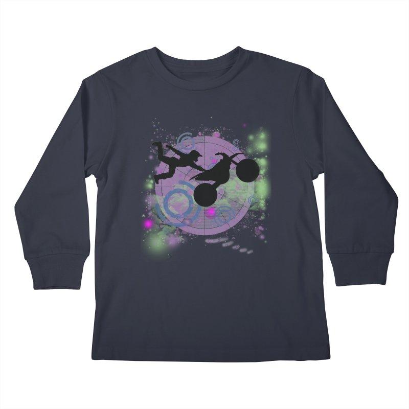 AIR TIME JERKSTUNTS Kids Longsleeve T-Shirt by ExploreDaily's Artist Shop