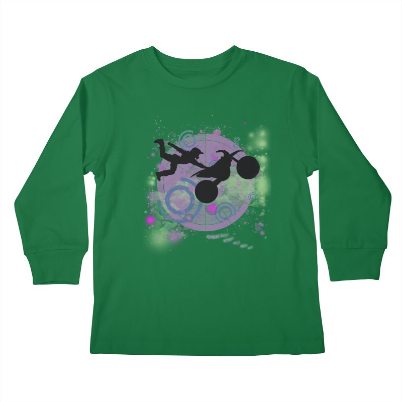 AIR TIME JERKSTUNTS Kids Longsleeve T-Shirt by ExploreDaily's Artist Shop