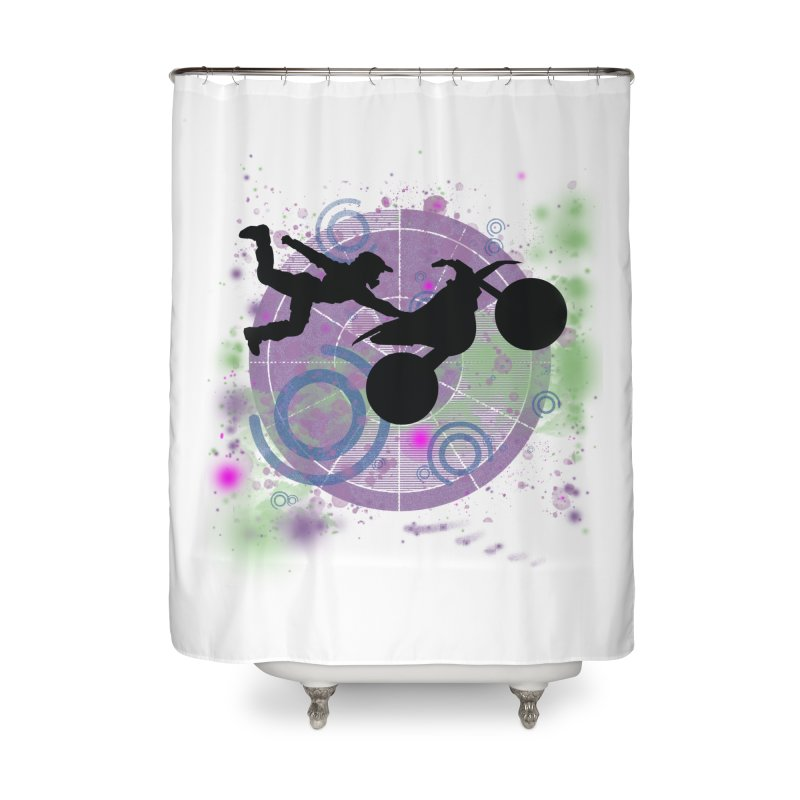 AIR TIME JERKSTUNTS Home Shower Curtain by ExploreDaily's Artist Shop