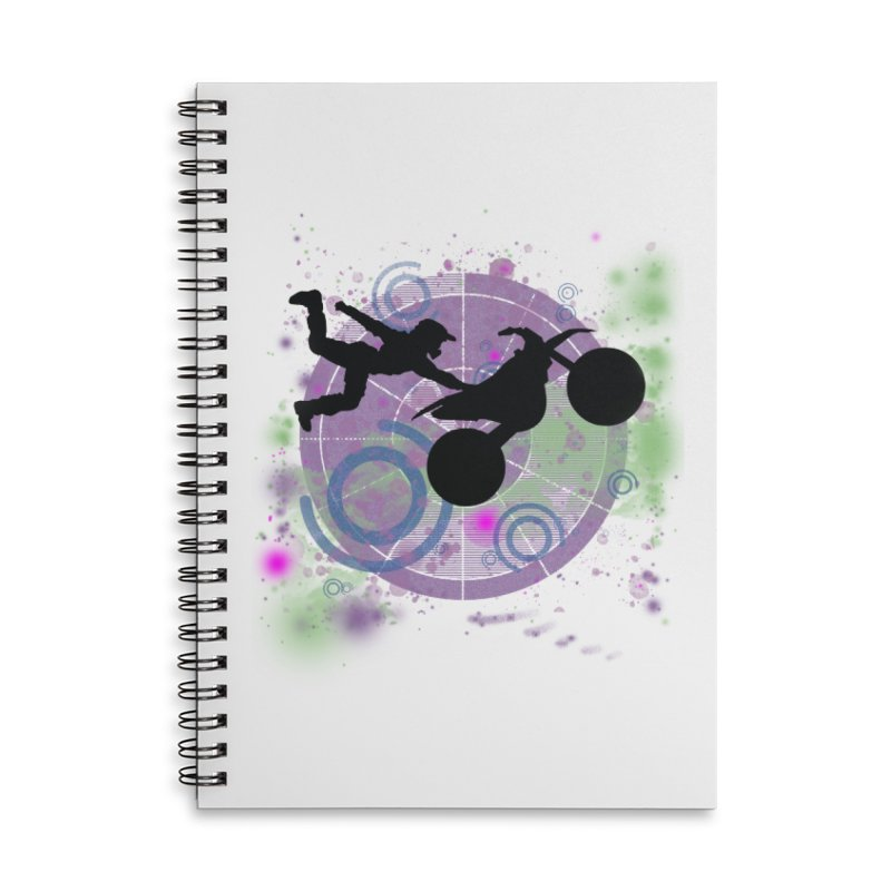 AIR TIME JERKSTUNTS Accessories Lined Spiral Notebook by ExploreDaily's Artist Shop