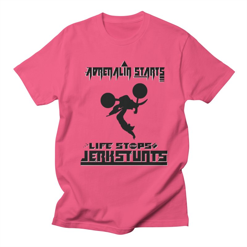 ADRENALIN STARTS LIFE STOPS JERKSTUNTS Men's Regular T-Shirt by ExploreDaily's Artist Shop