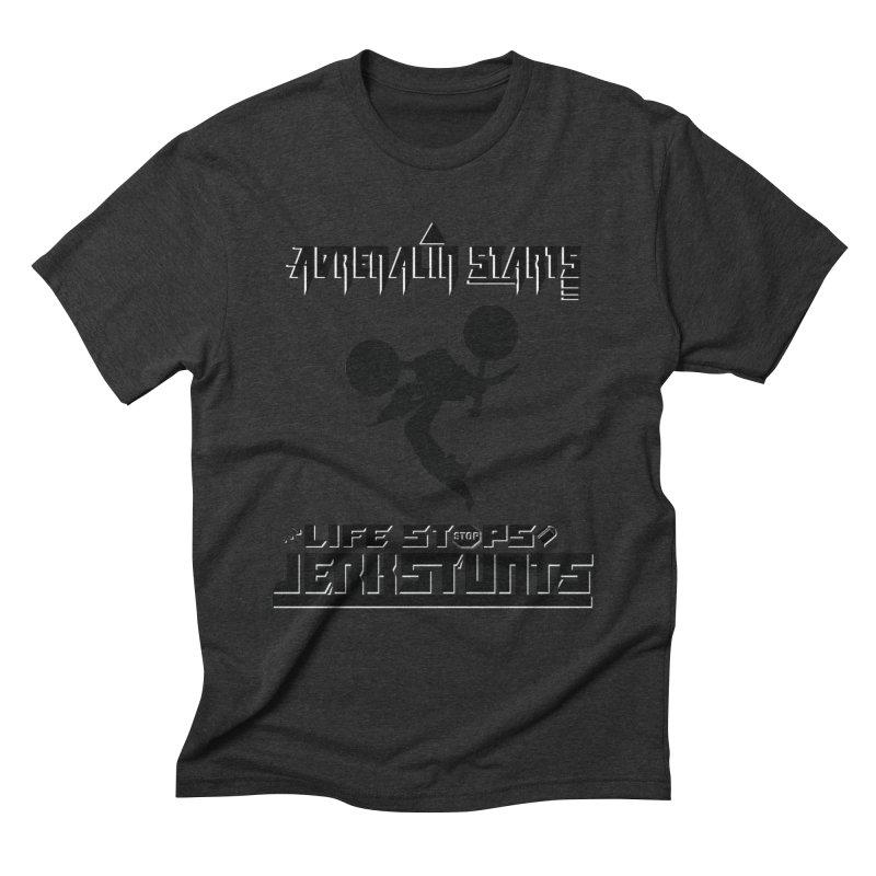 ADRENALIN STARTS LIFE STOPS JERKSTUNTS Men's Triblend T-Shirt by ExploreDaily's Artist Shop