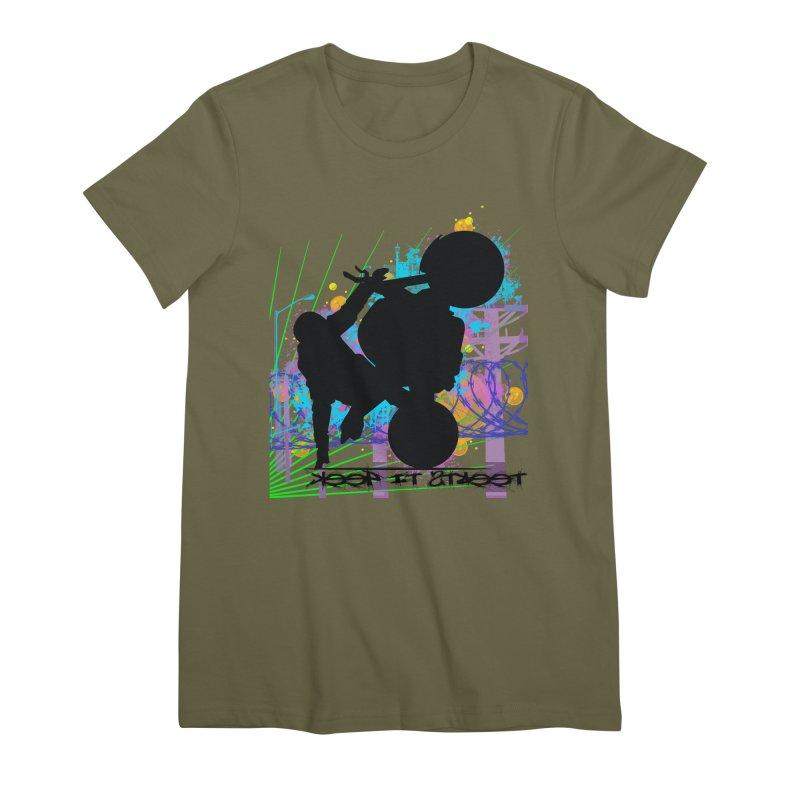 KEEP IT STREET JERKSTUNTS ALL ARTWORK © Women's Premium T-Shirt by ExploreDaily's Artist Shop