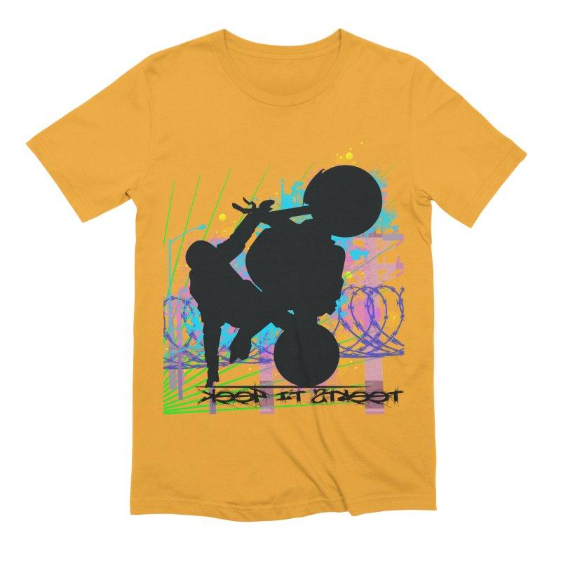 KEEP IT STREET JERKSTUNTS ALL ARTWORK © Men's Extra Soft T-Shirt by ExploreDaily's Artist Shop