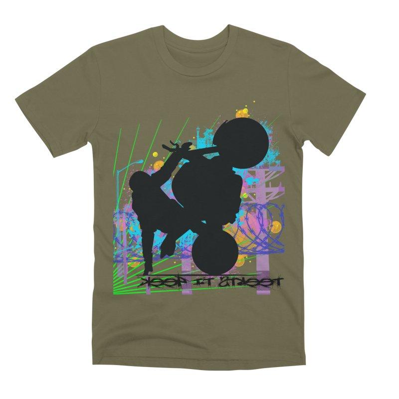 KEEP IT STREET JERKSTUNTS ALL ARTWORK © Men's Premium T-Shirt by ExploreDaily's Artist Shop