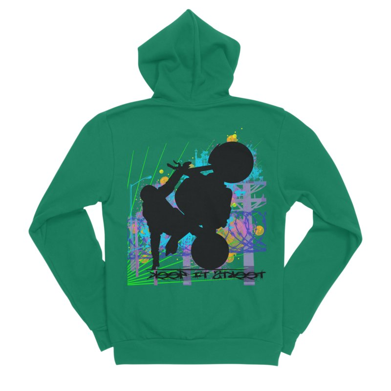 KEEP IT STREET JERKSTUNTS ALL ARTWORK © Men's Sponge Fleece Zip-Up Hoody by ExploreDaily's Artist Shop