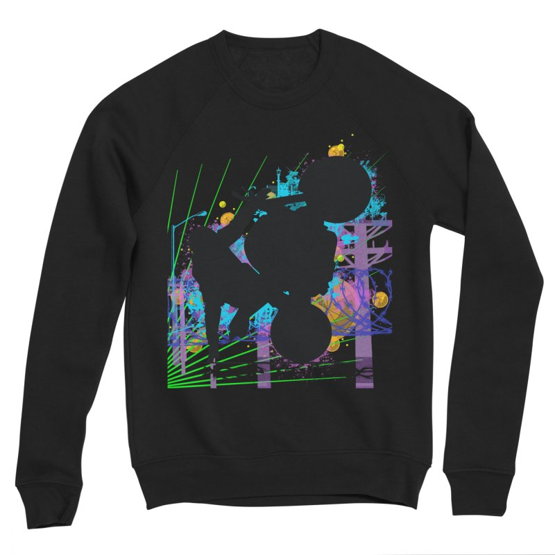 KEEP IT STREET JERKSTUNTS ALL ARTWORK © Men's Sponge Fleece Sweatshirt by ExploreDaily's Artist Shop
