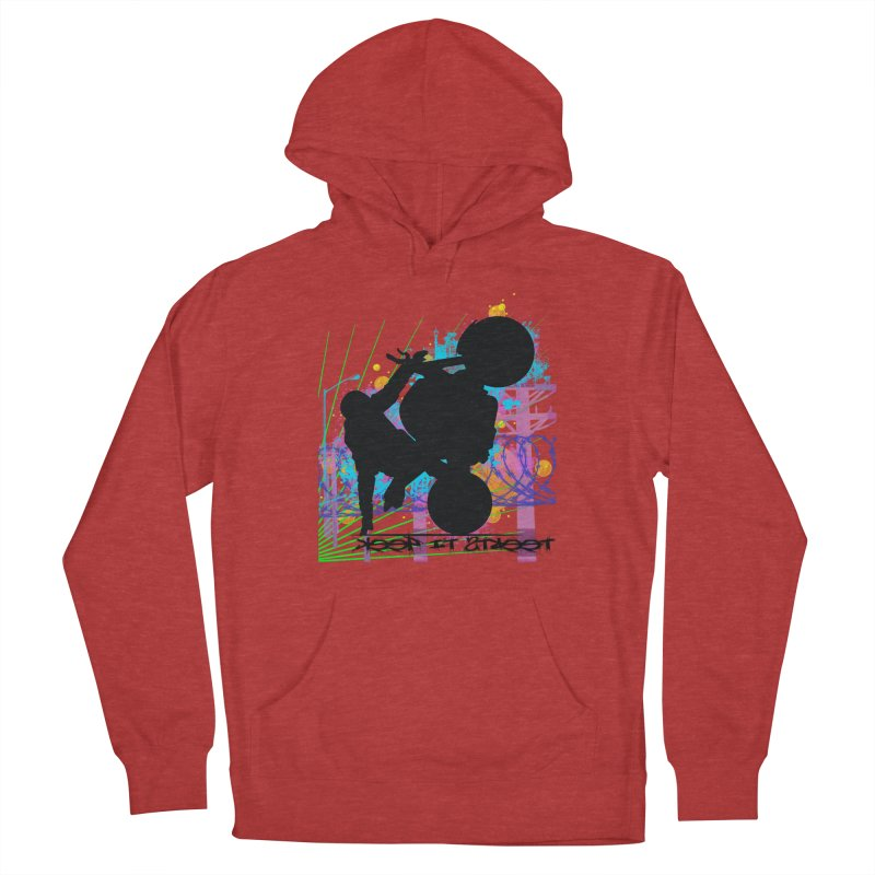 KEEP IT STREET JERKSTUNTS ALL ARTWORK © Women's French Terry Pullover Hoody by ExploreDaily's Artist Shop