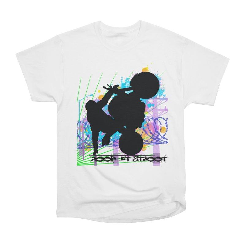 KEEP IT STREET JERKSTUNTS ALL ARTWORK © Men's Heavyweight T-Shirt by ExploreDaily's Artist Shop