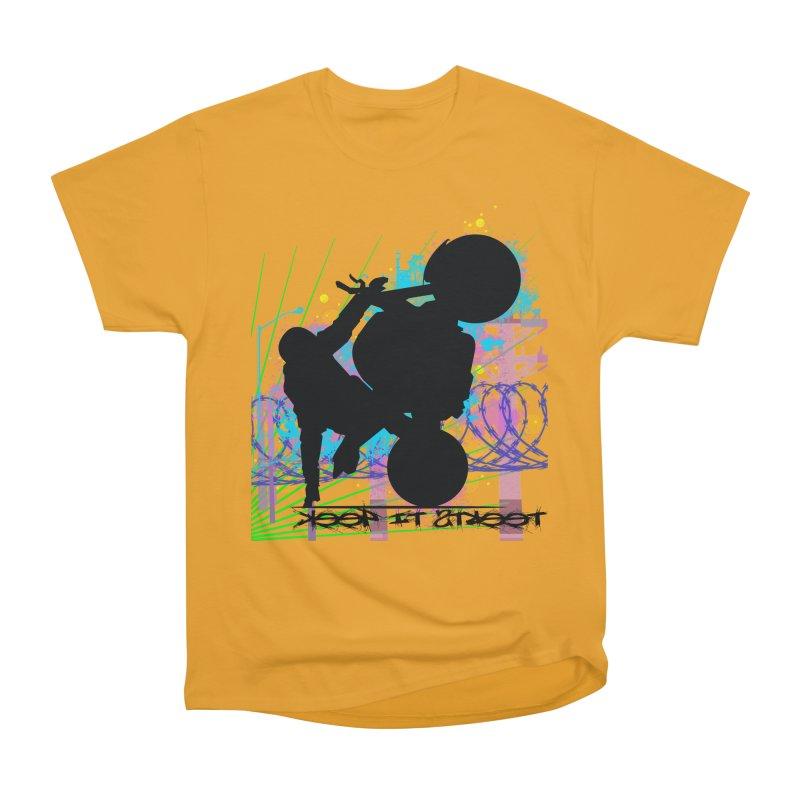 KEEP IT STREET JERKSTUNTS ALL ARTWORK © Women's Heavyweight Unisex T-Shirt by ExploreDaily's Artist Shop