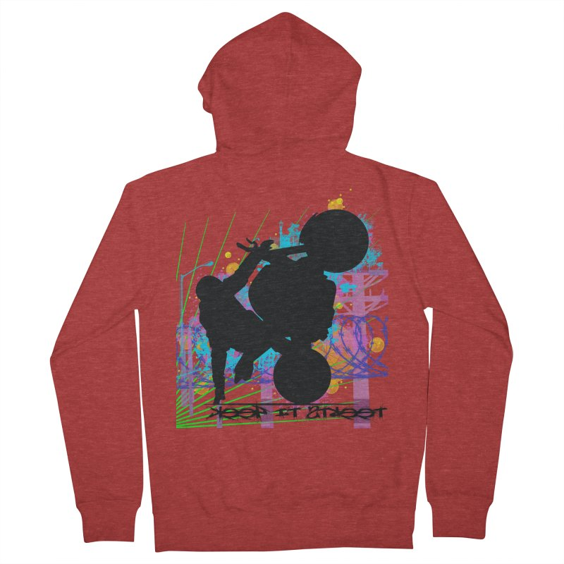 KEEP IT STREET JERKSTUNTS ALL ARTWORK © Women's French Terry Zip-Up Hoody by ExploreDaily's Artist Shop