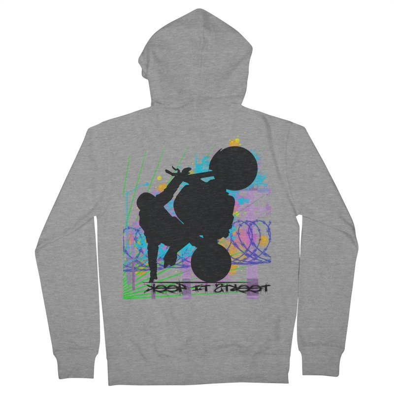 KEEP IT STREET JERKSTUNTS ALL ARTWORK © Men's French Terry Zip-Up Hoody by ExploreDaily's Artist Shop
