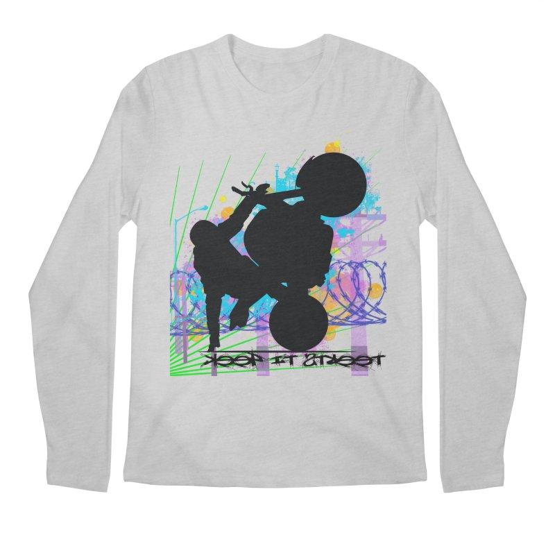 KEEP IT STREET JERKSTUNTS ALL ARTWORK © Men's Regular Longsleeve T-Shirt by ExploreDaily's Artist Shop