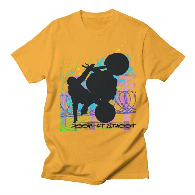 KEEP IT STREET JERKSTUNTS ALL ARTWORK © Men's Regular T-Shirt by ExploreDaily's Artist Shop