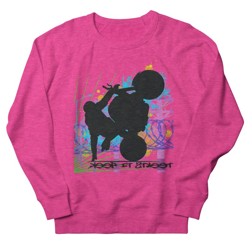 KEEP IT STREET JERKSTUNTS ALL ARTWORK © Women's French Terry Sweatshirt by ExploreDaily's Artist Shop