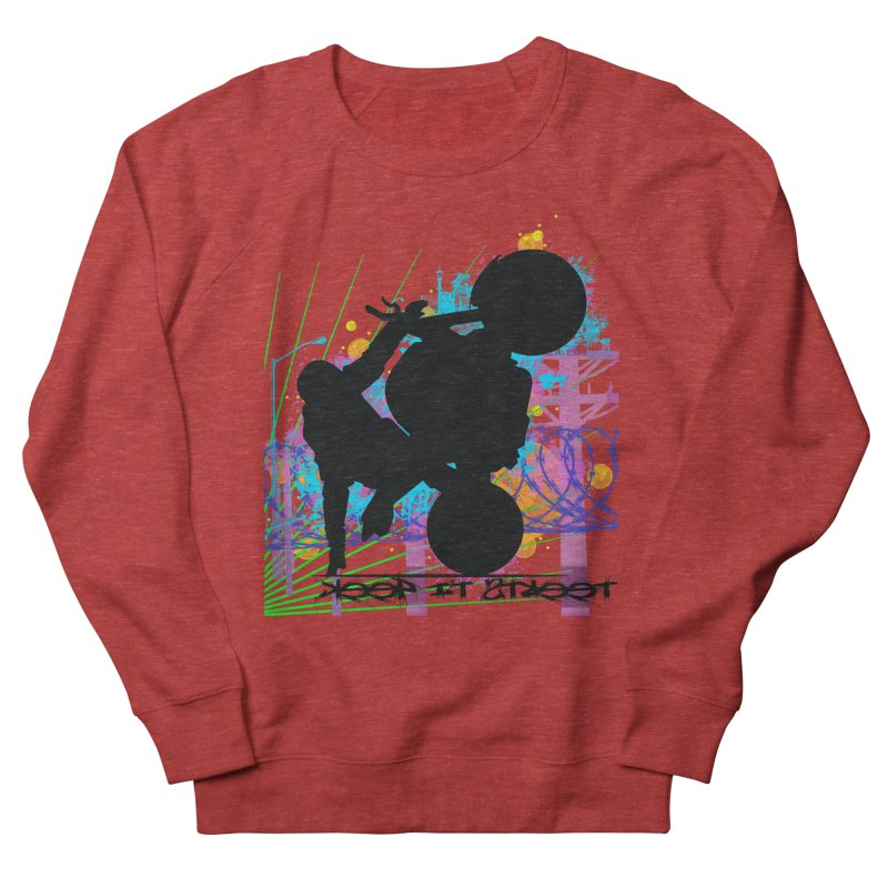 KEEP IT STREET JERKSTUNTS ALL ARTWORK © Men's French Terry Sweatshirt by ExploreDaily's Artist Shop