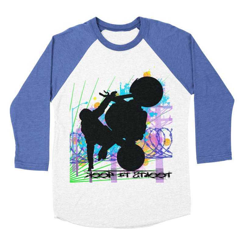 KEEP IT STREET JERKSTUNTS ALL ARTWORK © Women's Baseball Triblend Longsleeve T-Shirt by ExploreDaily's Artist Shop
