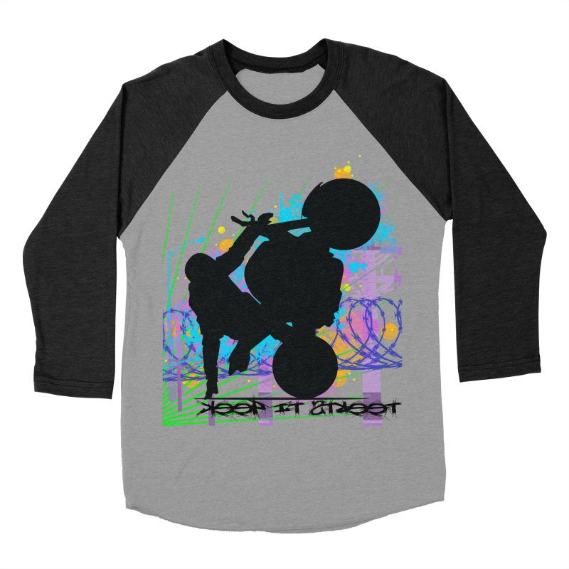 KEEP IT STREET JERKSTUNTS ALL ARTWORK © Women's Baseball Triblend Longsleeve T-Shirt by ExploreDaily's Artist Shop