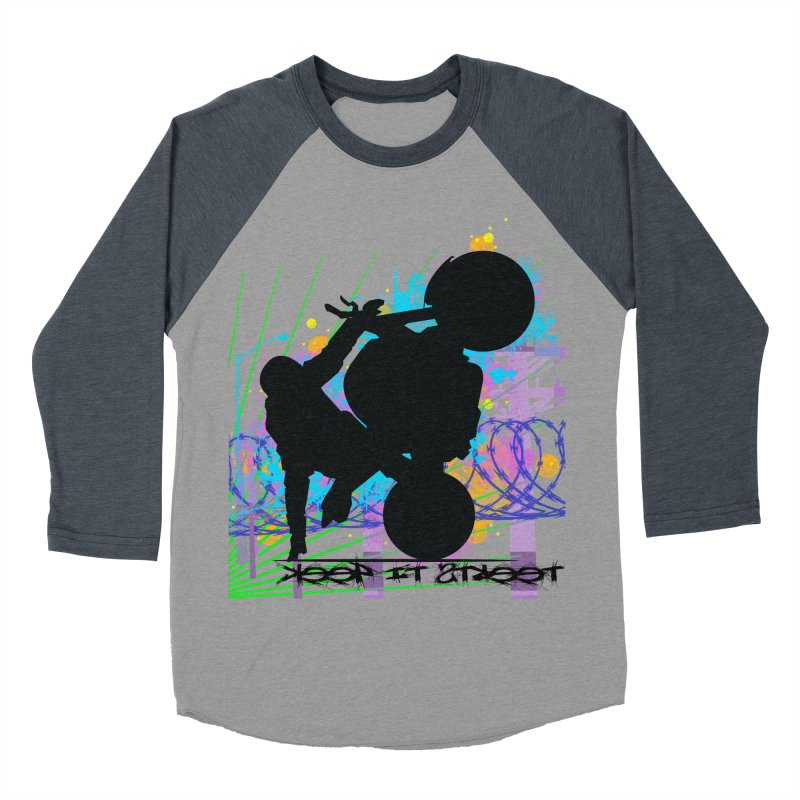 KEEP IT STREET JERKSTUNTS ALL ARTWORK © Men's Baseball Triblend Longsleeve T-Shirt by ExploreDaily's Artist Shop