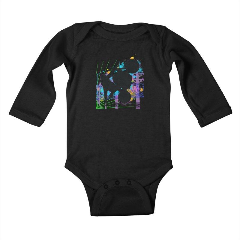 KEEP IT STREET JERKSTUNTS ALL ARTWORK © Kids Baby Longsleeve Bodysuit by ExploreDaily's Artist Shop