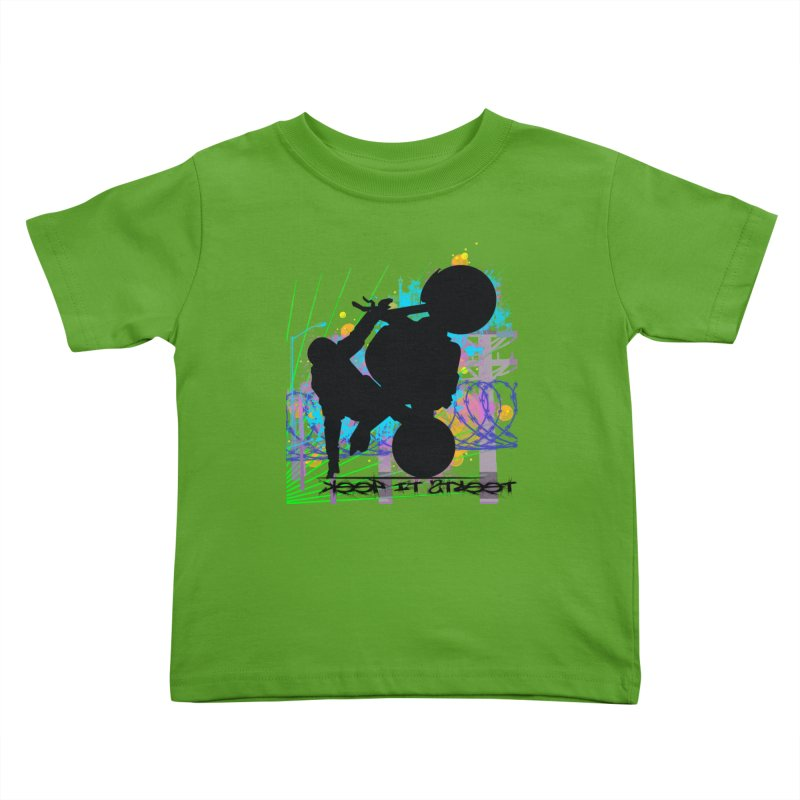 KEEP IT STREET JERKSTUNTS ALL ARTWORK © Kids Toddler T-Shirt by ExploreDaily's Artist Shop