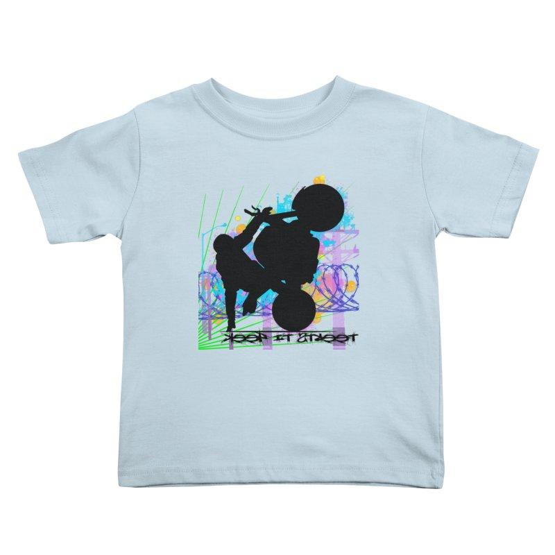 KEEP IT STREET JERKSTUNTS ALL ARTWORK © Kids Toddler T-Shirt by ExploreDaily's Artist Shop