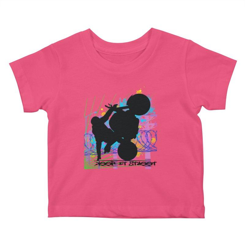 KEEP IT STREET JERKSTUNTS ALL ARTWORK © Kids Baby T-Shirt by ExploreDaily's Artist Shop