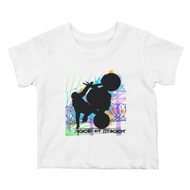 KEEP IT STREET JERKSTUNTS ALL ARTWORK © Kids Baby T-Shirt by ExploreDaily's Artist Shop