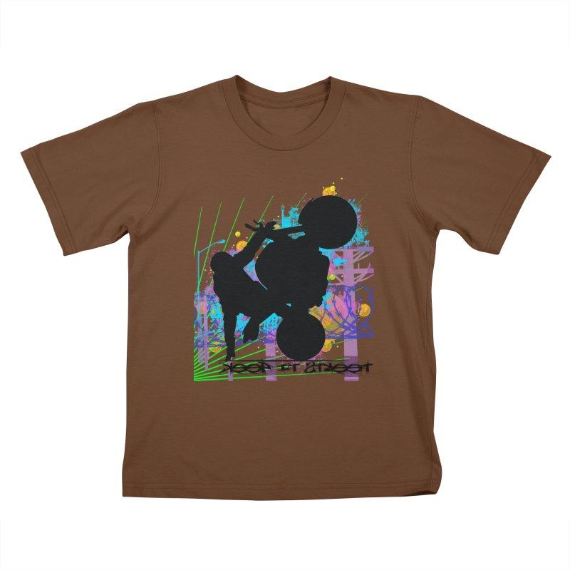KEEP IT STREET JERKSTUNTS ALL ARTWORK © Kids T-Shirt by ExploreDaily's Artist Shop