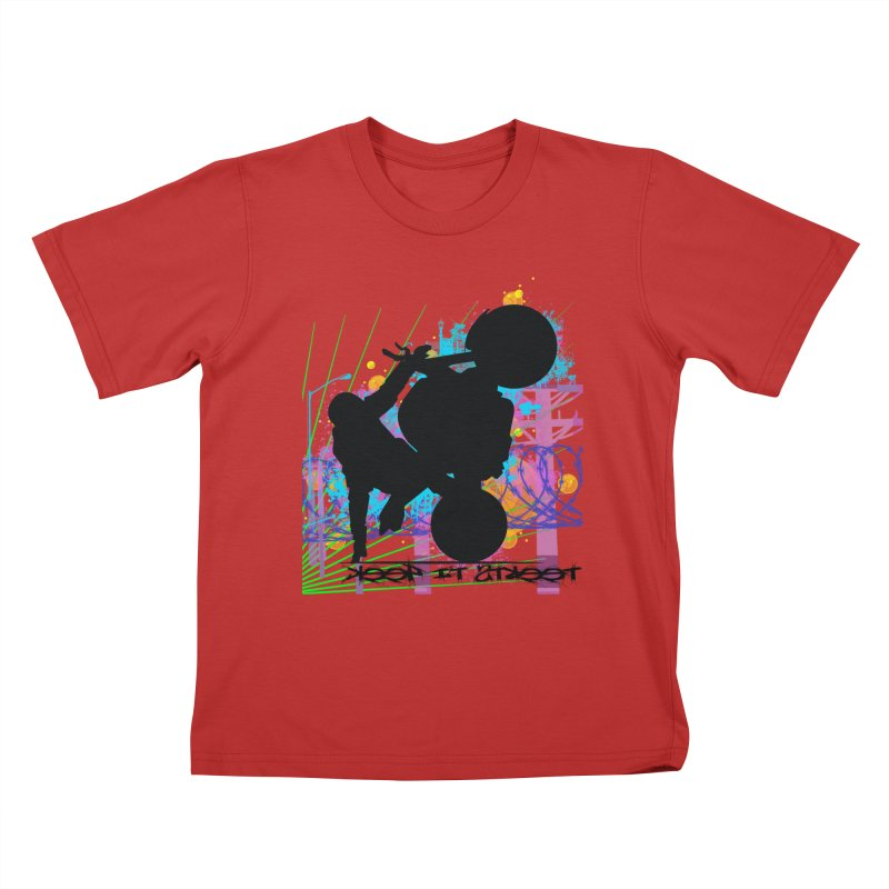 KEEP IT STREET JERKSTUNTS ALL ARTWORK © Kids T-Shirt by ExploreDaily's Artist Shop