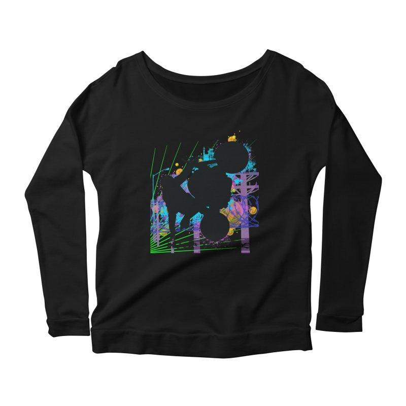 KEEP IT STREET JERKSTUNTS ALL ARTWORK © Women's Scoop Neck Longsleeve T-Shirt by ExploreDaily's Artist Shop