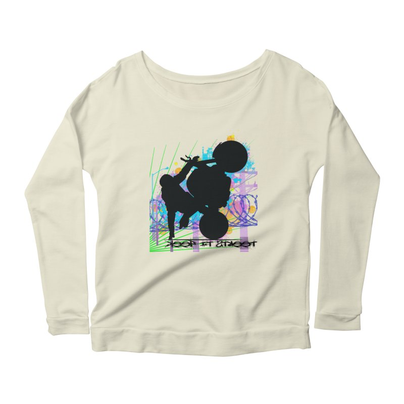 KEEP IT STREET JERKSTUNTS ALL ARTWORK © Women's Scoop Neck Longsleeve T-Shirt by ExploreDaily's Artist Shop