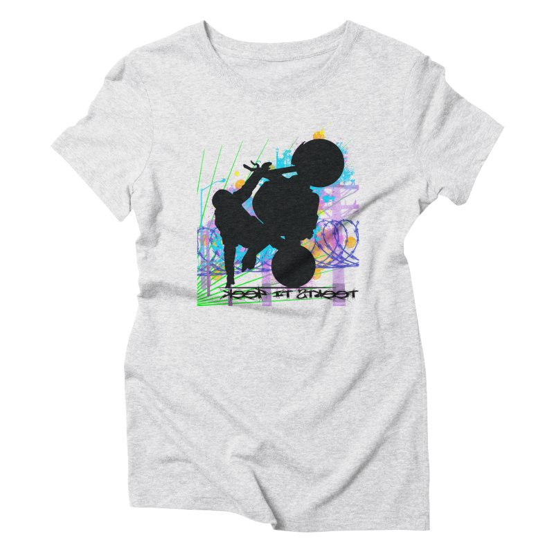 KEEP IT STREET JERKSTUNTS ALL ARTWORK © Women's Triblend T-Shirt by ExploreDaily's Artist Shop