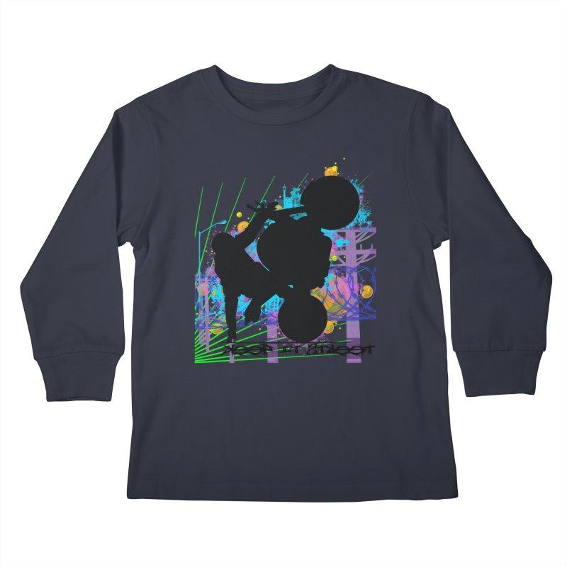 KEEP IT STREET JERKSTUNTS ALL ARTWORK © Kids Longsleeve T-Shirt by ExploreDaily's Artist Shop