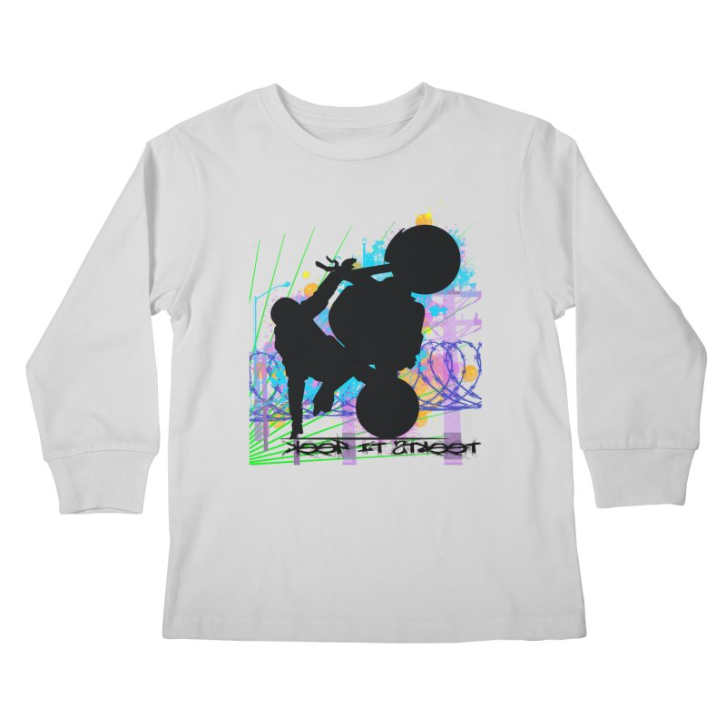 KEEP IT STREET JERKSTUNTS ALL ARTWORK © Kids Longsleeve T-Shirt by ExploreDaily's Artist Shop