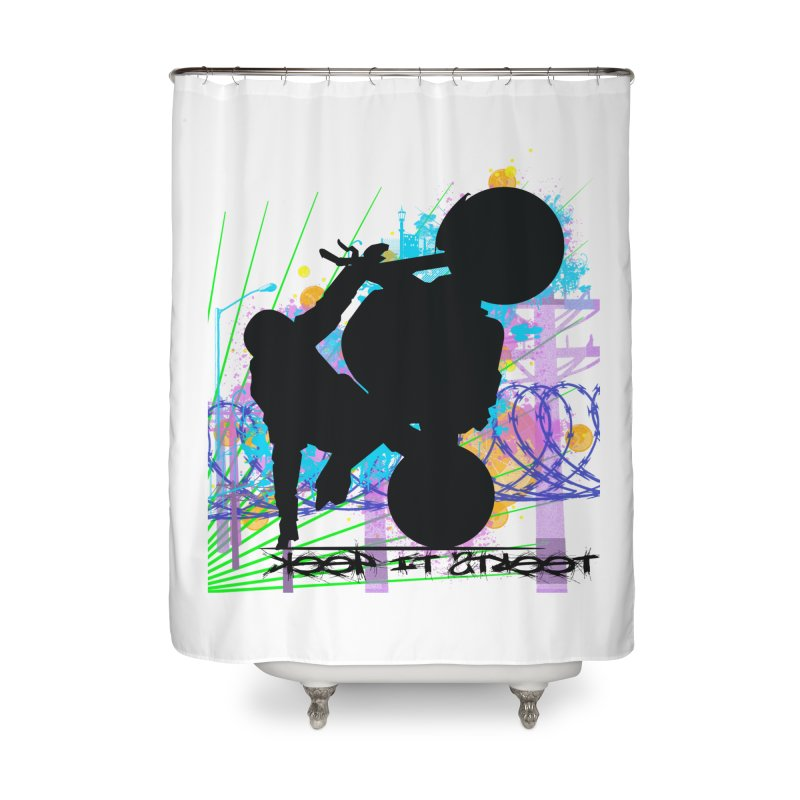 KEEP IT STREET JERKSTUNTS ALL ARTWORK © Home Shower Curtain by ExploreDaily's Artist Shop