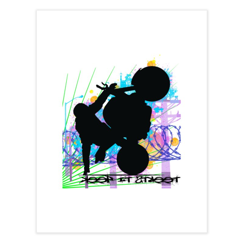 KEEP IT STREET JERKSTUNTS ALL ARTWORK © Home Fine Art Print by ExploreDaily's Artist Shop