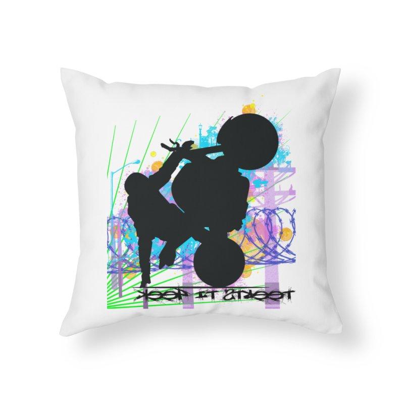 KEEP IT STREET JERKSTUNTS ALL ARTWORK © Home Throw Pillow by ExploreDaily's Artist Shop