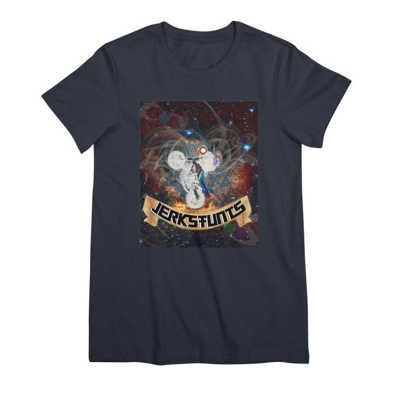 SPACE TEAM JERKSTUNTS Women's Premium T-Shirt by ExploreDaily's Artist Shop