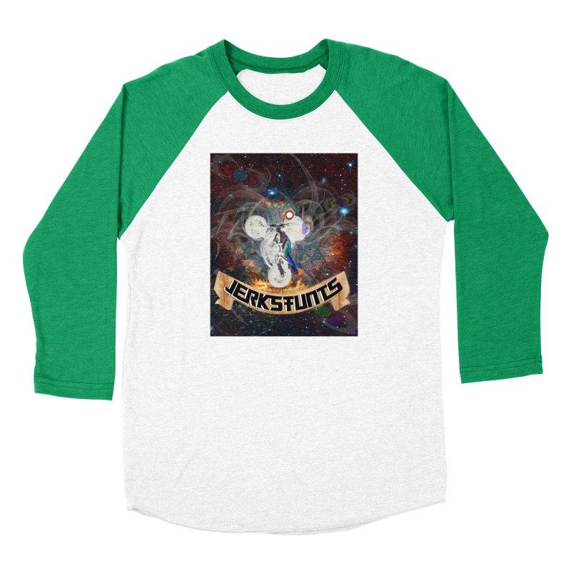 SPACE TEAM JERKSTUNTS Women's Baseball Triblend Longsleeve T-Shirt by ExploreDaily's Artist Shop