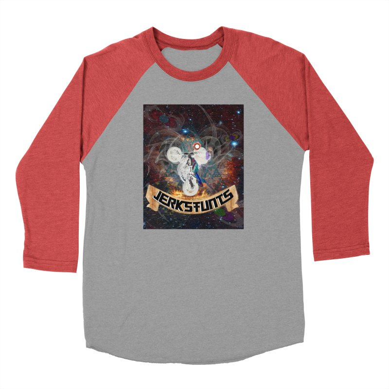 SPACE TEAM JERKSTUNTS Men's Baseball Triblend Longsleeve T-Shirt by ExploreDaily's Artist Shop