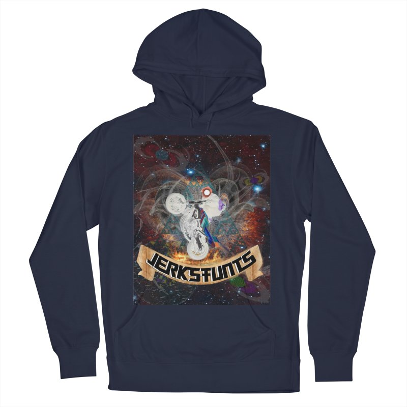 SPACE TEAM JERKSTUNTS Men's French Terry Pullover Hoody by ExploreDaily's Artist Shop