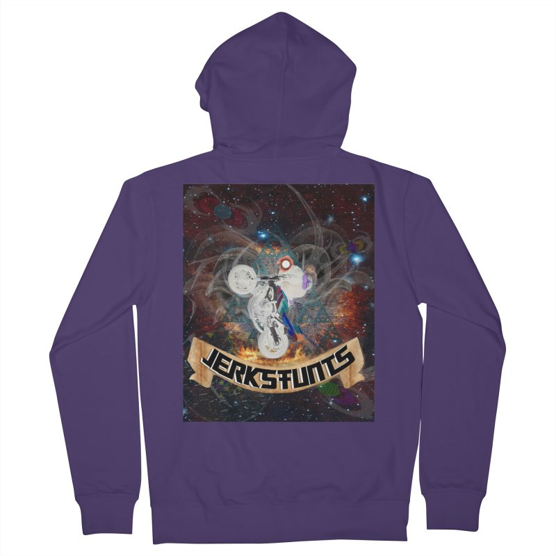 SPACE TEAM JERKSTUNTS Women's French Terry Zip-Up Hoody by ExploreDaily's Artist Shop