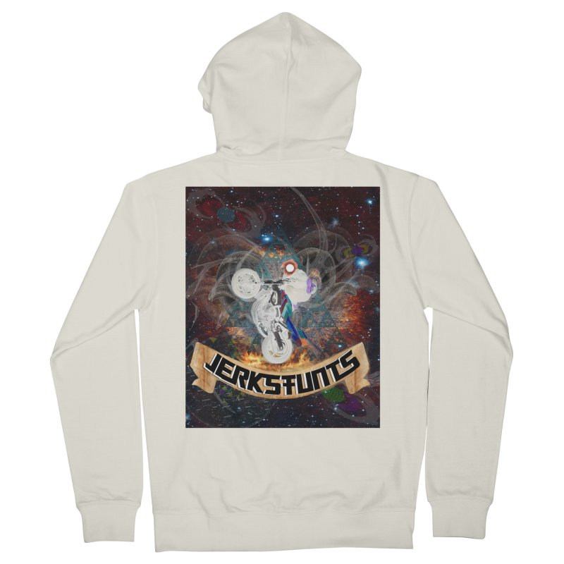 SPACE TEAM JERKSTUNTS Men's French Terry Zip-Up Hoody by ExploreDaily's Artist Shop