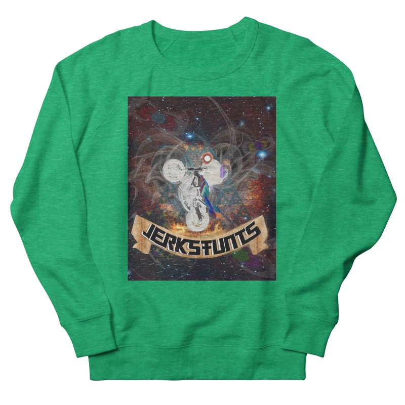SPACE TEAM JERKSTUNTS Women's French Terry Sweatshirt by ExploreDaily's Artist Shop