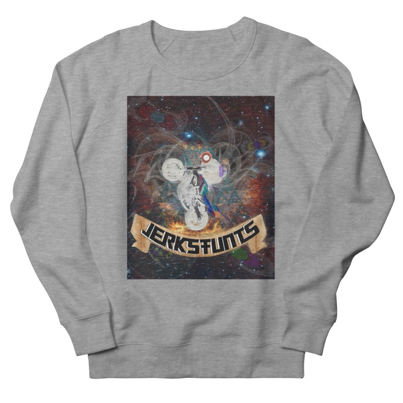 SPACE TEAM JERKSTUNTS Men's French Terry Sweatshirt by ExploreDaily's Artist Shop