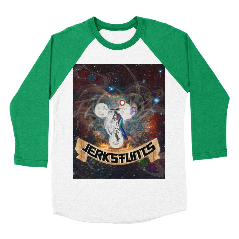 SPACE TEAM JERKSTUNTS Men's Baseball Triblend Longsleeve T-Shirt by ExploreDaily's Artist Shop