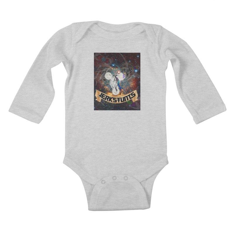SPACE TEAM JERKSTUNTS Kids Baby Longsleeve Bodysuit by ExploreDaily's Artist Shop